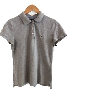 Tommy Hilfiger Grey L/G Polo Top - Smart